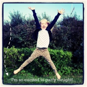 excited to party!